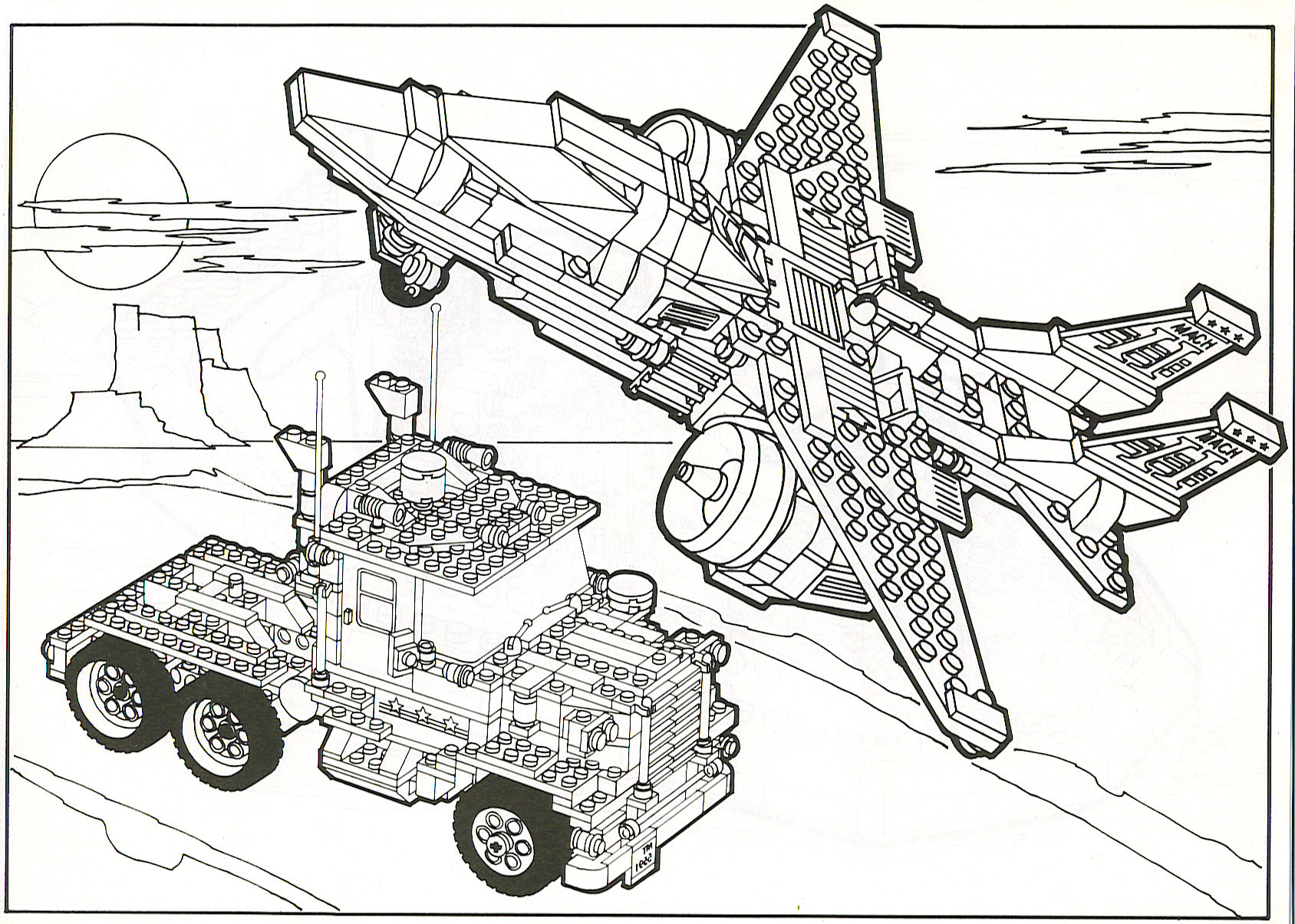 single lego brick coloring page coloring pages